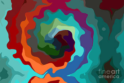 Multicolor Abstract Digital Art - Etourdissement - 11a by Variance Collections