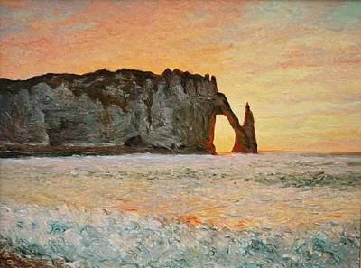 Etretat, Sunset  Art Print