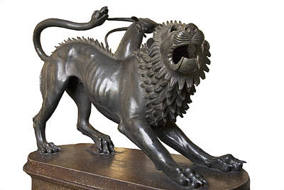 Chimera Photograph - Etruscan Chimera, 4th Century Bc by Sheila Terry