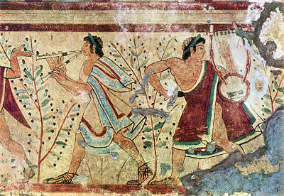 Painting - Etruscan Musicians by Granger