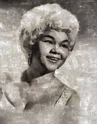 Music Paintings - Etta James by Mary Bassett by Esoterica Art Agency