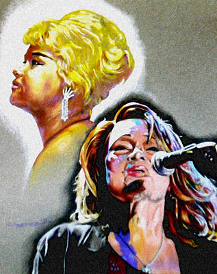 Icon Drawing - Etta James by Christopher Martinez