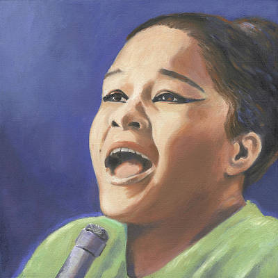 Painting - Etta James by Linda Ruiz-Lozito