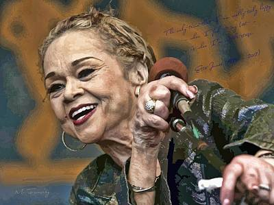 Rhythm And Blues Digital Art - Etta James by Maciek Froncisz