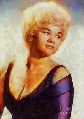 Music Paintings - Etta James, Music Legend by Esoterica Art Agency
