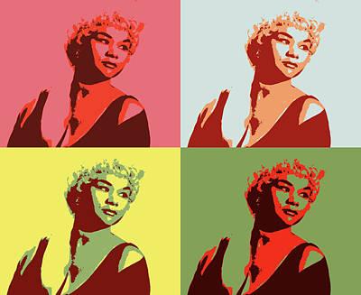 Mixed Media - Etta James Pop Art by Dan Sproul
