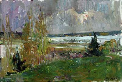 Painting - Etude In Nekrasovskoe by Juliya Zhukova