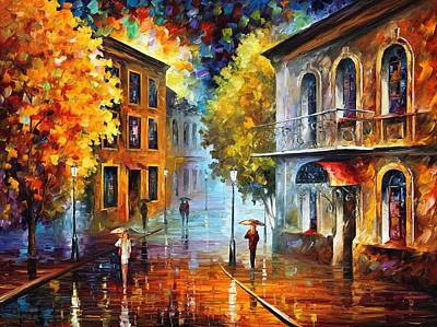 Etude In Red Art Print by Leonid Afremov