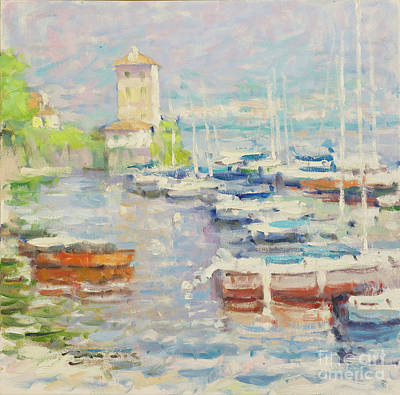 Bellagio Painting - Etude In Warm Blue by Jerry Fresia
