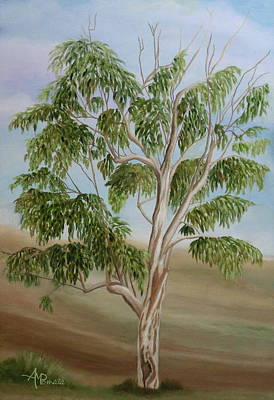 Lanscape Painting - Eucalyptus by Angeles M Pomata