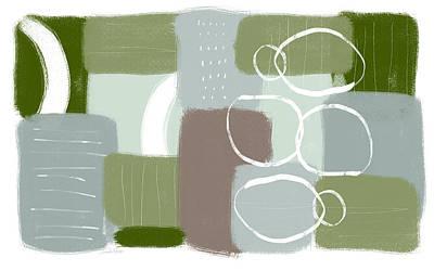 Mixed Media - Eucalyptus Breeze 3- Art By Linda Woods by Linda Woods