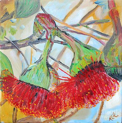 Painting - Eucalyptus Flowers by Reina Resto
