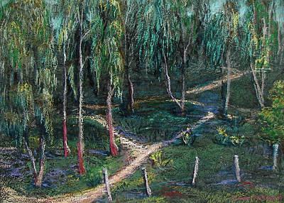 Painting - Eucalyptus Grove by Art Nomad Sandra  Hansen