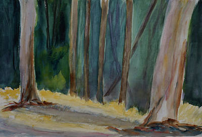 Painting - Eucalyptus Grove, China Camp State Park by Tom Simmons