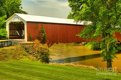 Photograph - Eugene Covered Bridge Landscape by Adam Jewell