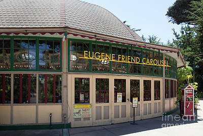 Photograph - Eugene Friend Carousel At The San Francisco Zoo San Francisco California 5d3238 by San Francisco Bay Area Art and Photography