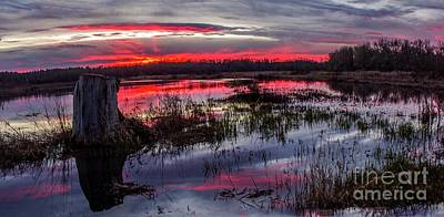 Photograph - Eugene Stump Sunset by Michael Cross