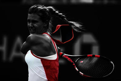 Eugenie Bouchard Art Print by Brian Reaves
