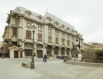 Photograph - Eugeniu Carada Statue In Old Center In Bucharest - Romania by Vlad Baciu