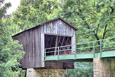 Photograph - Euharlee Creek Covered Bridge by Gordon Elwell