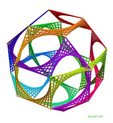 Digital Art - Eulerian String Circuit by Dan Bach