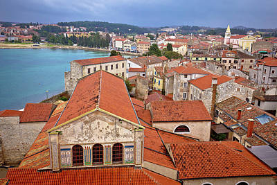 Photograph - Euphrasian Basilica And Town Of Porec Aerial View by Brch Photography