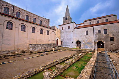Photograph - Euphrasian Basilica In Porec Astefacts And Tower View by Brch Photography