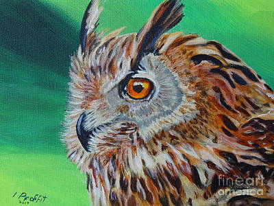 Eurasian Eagle-owl Art Print by Isabel Proffit