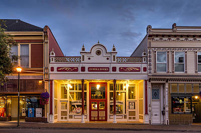 Photograph - Eureka Books At Dusk by Greg Nyquist