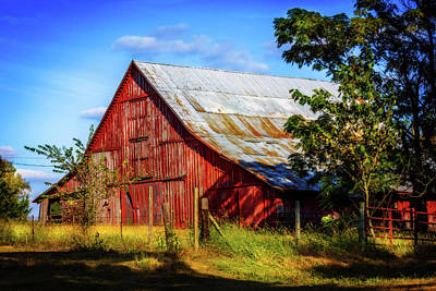 Photograph - Eureka Road Barn by Barry Jones