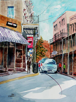 Store Fronts Painting - Eureka Springs Ak 7 by Ron Stephens