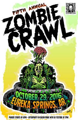 Digital Art - Eureka Springs Zombie Crawl 2016 by Jeff Danos and Kiko Garcia