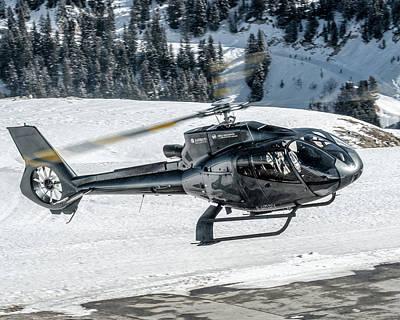 Plane Photograph - Eurocopter Ec130 F-hdry Back Departure by Roberto Chiartano