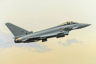 Air Photograph - Eurofighter Typhoone 2000 Departed From Turin Airport. by Roberto Chiartano