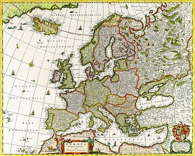 Drawing - Europa Delineata Et Recens Edita Per Nicolaum Visscher by R Muirhead Art