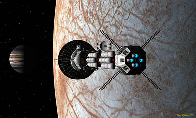 Digital Art - Europa Insertion by David Robinson