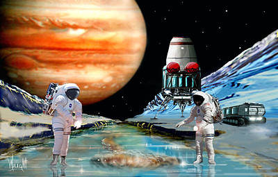 Rocketship Digital Art - Europa Life by Bill Wright