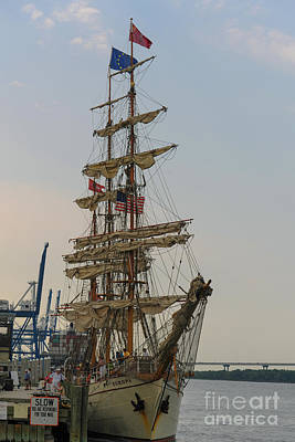 Photograph - Europa Tall Ship by Dale Powell