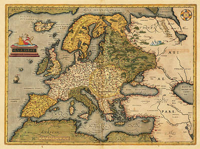 Painting - Europae by Abraham Ortelius