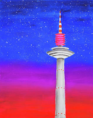 Painting - Europaturm by Iryna Goodall
