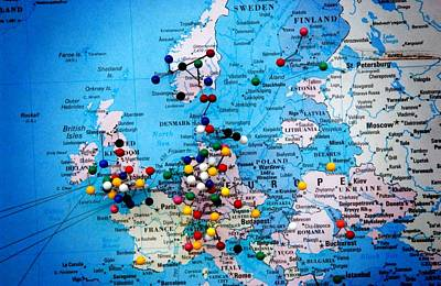 Photograph - Europe And Russia Map by Bob Pardue