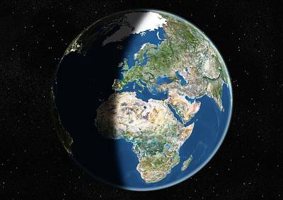 Europe, Satellite Image Art Print