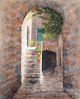 Painting - European Alley by Rebecca Davis