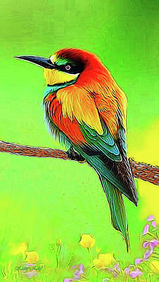 European Bee Eater Art Print