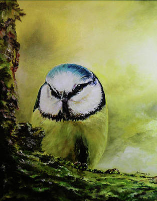 Painting - European Blue Tit by Steve James