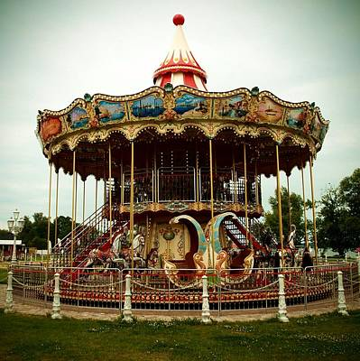 Photograph - European Carousel by Dora Hathazi Mendes