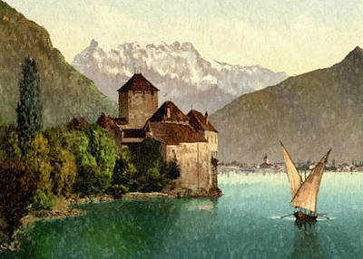 Painting - European Lakeside by Gary Grayson