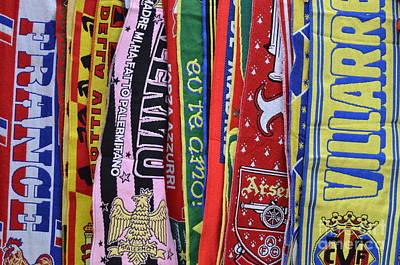 European Soccer Teams Scarfs For Sale In Store Art Print