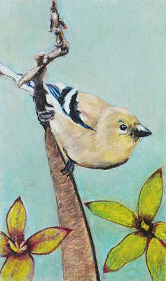 Painting - European Songbird by Jeanne Fischer