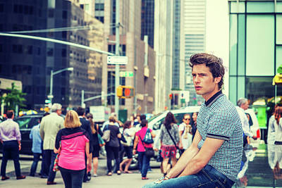 Photograph - European Male Student In New York by Alexander Image